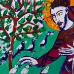 Святой Франциск Ассизский проповедует птицам