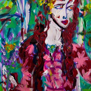 Девушка с полевыми цветами
